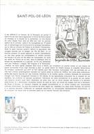DOCUMENT OFFICIEL 3/75 SAINT POL DE LEON - COTE 2009 = 15.00 € - Documents De La Poste