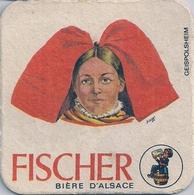SOUS-BOCK  - FISCHER - BÌÈRE D'ALSACE (Geispolsheimà - Beer Mats