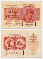 MINES DOMANIALES DE LA SARRE // Un Franc // Série C - Sonstige