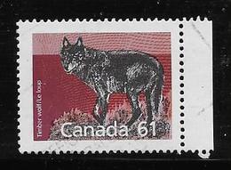 ANADA 1989, USED # 1175,  MAMALS DEFINITIVES: TIMBER WOLF,  PERF  14.4 - 1952-.... Règne D'Elizabeth II