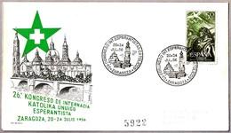 26 Congreso Int. ESPERANTISTAS CATOLICOS - Esperanto. Zaragoza, Aragon, 1956 - Esperánto