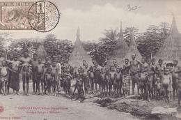 CONGO FRANCAIS Et Dépendance  Groupe SANGO à MOBAYE (plan Animé ) - Congo Francese - Altri