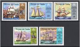 Tristan Da Cunha 1971 Mi.No. 157 - 161   Maritime SHIPS Sailors  5v MNH **   6,50 € - Tristan Da Cunha