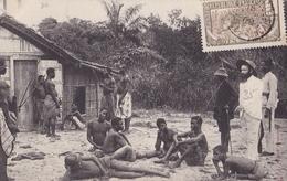 CONGO FRANCAIS Et Dépendances  Européen En Tournée Dans Un Poste LOANGO  (plan Animé ) - Congo Français - Autres