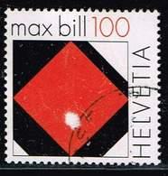 Schweiz 2008, Michel# 2086 O Red Square Of Max Bill - Switzerland
