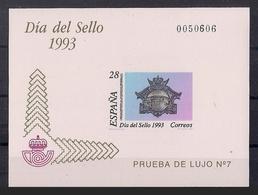 ESPAÑA 1993 - PRUEBA DIA DEL SELLO 1993 - EDIFIL Nº 28 - 1991-00 Nuevos & Fijasellos