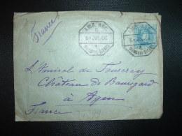 LETTRE Pour Amiral De FOURCRAY CHATEAU De BEAUREGARD AGEN (47) TP 25 OBL. HEXAGONALE 5 JUL 06 AMB. ASC. MUNGUIA-BILBAO - Lettres & Documents