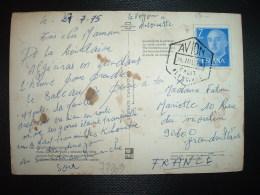 CP TP FRANCO 7 P OBL. HEXAGONALE 28 JUL 75 AVION CADIZ ALGECIRAS - 1931-Aujourd'hui: II. République - ....Juan Carlos I