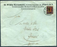1918 Switzerland Willy Kramer, Zurich Cover. Pro Juventute 15c - Pro Juventute