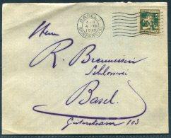 1916 Switzerland Pro Juventute 5c Basel Cover - Pro Juventute