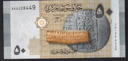SIRIA (SYRIA)  :  50  Pounds - P112 - UNC - Syrie