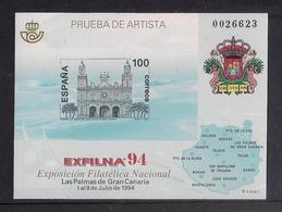 ESPAÑA 1994 - PRUEBA EXPOSICION FILATELICA EXFILNA 94 - EDIFIL Nº 33 - 1991-00 Nuevos & Fijasellos