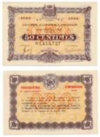 1914-1922 // C.D.C. // AVIGNON // 11 Août 1915  // Emission 1922 // Cinquante Centimes - Chamber Of Commerce