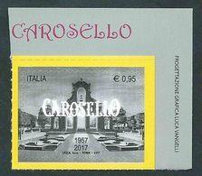 Italia 2017; Carosello,60° Anniversario Della Prima Messa In Onda. Siparietto. Angolo Con La Scritta Carosello Sul Bordo - 1946-.. République