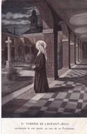 Ste THERESE DE L'ENFANT JESUS, CONTEMPLE LE CIEL ETOILE, AU SOIR DE SA PROFESSION. CIRCA 1900s- BLEUP - Maagd Maria En Madonnas