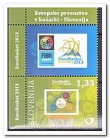 Slovenië 2013, Postfris MNH, Eurobasket, Basketball - Slovenië