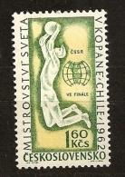 Tchécoslovaquie 1962 N° 1225 ** Sport, Football, Coupe Du Monde, Jules Rimet, Chili, Gardien De But, Brésil, Bulgarie - Czechoslovakia