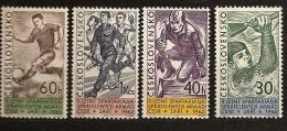 Tchécoslovaquie 1962 N° 1226 / 9 ** Sport, Spartakiades, Armée, Natation, Football, Course à Pied, Fusil, Obstacle - Czechoslovakia