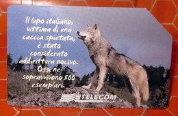 TELECOM LIRE 5.000 LUPO  SCHEDA TELEFONICA USED - Italy