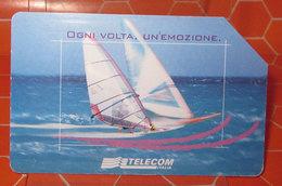 TELECOM LIRE 5.000   SCHEDA TELEFONICA USED - Public Advertising