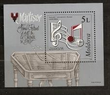 Moldavie Moldova 1998 N° BF 19 ** Europa, Fête, Festival, Musique, Portée, Notes, Piano, Cymbalium, Cordes, Partition - Moldavie