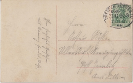 "3 100 Kitschkarte Bahnpost ""DRESDEN-LÜBBENAU"" 1913 - Usados"