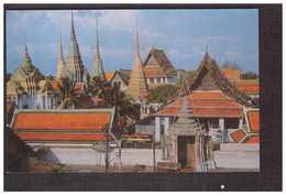 Thailande Thailand Bangkok Bird's Eye Of Wat Pho Vue Aerienne + Timbre - Thaïlande