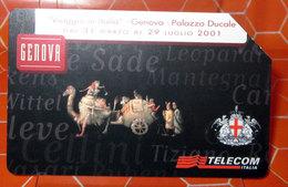 TELECOM LIRE 10.000 GENOVA PALAZZO DUCALE   SCHEDA TELEFONICA USED - Public Advertising
