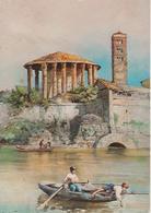 """Serie """"Roma Sparita"""" Acquerello Ettore Roesler Franz -Sbocco Della Cloaca Massima - Illustratori & Fotografie"""