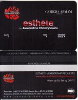 GREECE - Villa Mercedes, Esthete Member Card, Unused - Sonstige
