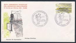 France Rep. Française 1985 Cover / Brief / Enveloppe - Panneau De Signalisation / Traffic Sign / Verkehrszeichen - Treinen