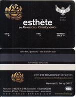 GREECE - Villa Mercedes, Esthete Member Card, Unused - Autres Collections