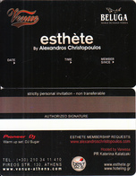 GREECE - Venue(Beluga), Esthete Member Card, Unused - Sonstige