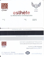 GREECE - Egomio, Esthete Member Card, Unused - Andere Sammlungen