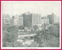 Square De L'Union, New York. Un Voyage à Travers L'Amérique. 1895. Éditeur C. N. Greig. Et Cie. - Vieux Papiers