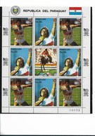 PARAGUAY 1987, OLYMPIC SPORT GAMES, SEUL 88, SPORTS, HORSES, FULL SHEET MNH - Paraguay