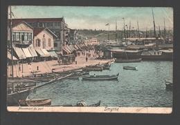 Smyrne - Mouvement Du Port - Paardentram / Horse Tram / Tramway à Cheval - Boat/ Bateau - Harbour / Haven / Hafen - 1910 - Turkije