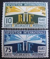 R1692/58 - EXPO ARTS DECO PARIS 1924 - N°210 + 215 NEUFS** - Cote : 45,40 € - France