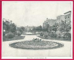 Eutaw Place, Baltimore, Md. Un Voyage à Travers L'Amérique. 1895. Éditeur C. N. Greig. Et Cie. - Vieux Papiers