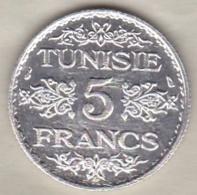 TUNISIE. 5 FRANCS 1936 (AH 1355). ARGENT / SILVER - Tunisie