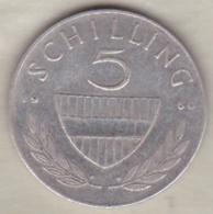 Autriche 5 Schilling 1960 En Argent - Austria