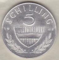 Autriche 5 Schilling 1962 En Argent - Austria