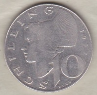 Autriche 10 Schilling 1957 En Argent - Austria