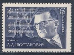 Soviet Unie CCCP Russia 1976 Mi 4526 YT 4294 ** Shostakovich, Composer + Part 7th Symphony / Schostakowitsch (1906-1975) - Muziek