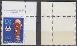 Yugoslavia Mi# 1567 II ** MNH Soccer 1974 - 1945-1992 Sozialistische Föderative Republik Jugoslawien