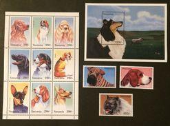 Tanzania 1996** Mi.2507-09,klb.2510-13,bl.346 Dogs MNH [20;141] - Chiens
