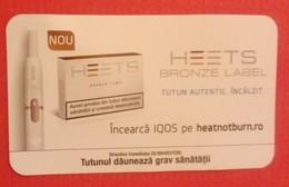 ROMANIA-CIGARETTES  CARD,NOT GOOD SHAPE-0.80 X 0.46 CM - Tabac (objets Liés)
