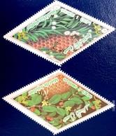 ALGERIE ALGERIA 2018 - PLANTES MEDICINALES PLANTS EUCALYPTUS JUJUBIER FRUITS FRUIT ARBRES TREES  - FROM 100% PROFILE MNH - Frutta