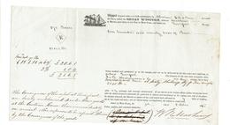 Frachtbrief Der Great Western Aus Dem Jahr 1846 Für Eine Ladung Käse Von New York Nach Liverpool - Historical Documents
