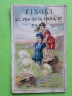 Carte Commerciale -Calendrier  Janv à Juin 1894 - FINOKI, 37 Rue De Ka Gaîté, PARIS 75014 - Calendriers
